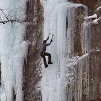 Ice Climbing at Robinson Quarry Ice Park