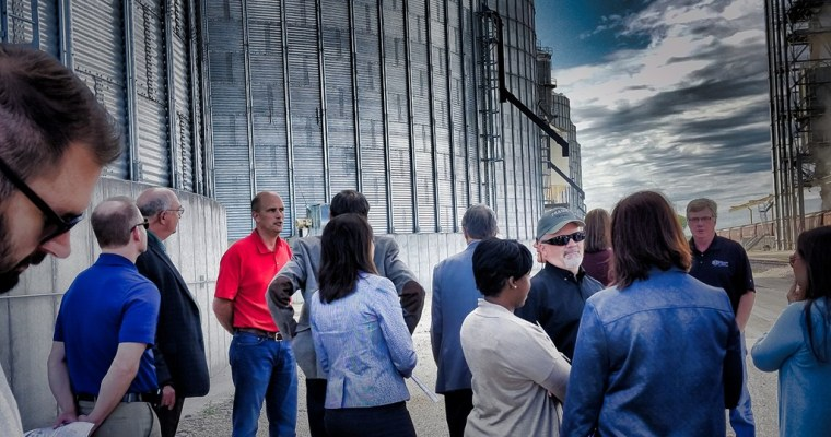 The Business First Stop Team Tours the Graceville Grain Terminal