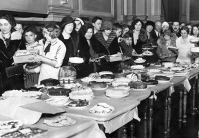 1930's Fundraising Bake Sale at the Eli Whitney School in Chicago.
