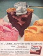 Jell-O chiffon pies were easy to make in all different flavors.