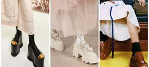 Модная обувь осень 2021