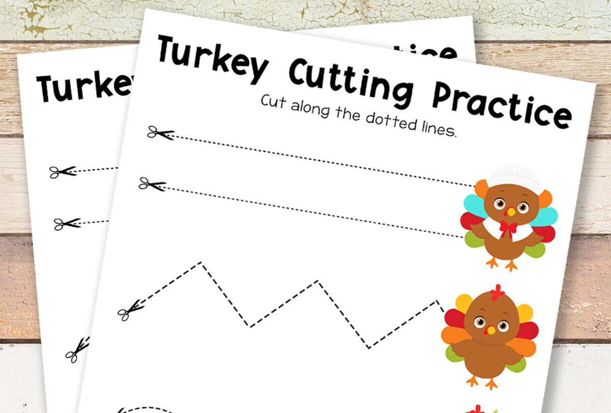 Free Printable Thanksgiving Cutting Practice