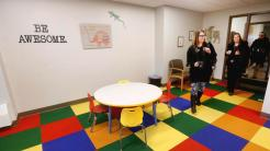 t11.15.17 Bob King -- 111617.N.DNT.GATEWAYc3 -- Gateway Tower has a new children's play area. Bob King / rking@duluthnews.com
