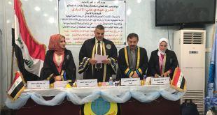 الاستاذ الدكتور علي رزاق العابدي يترأس لجنة مناقشة رسالة ماجستير