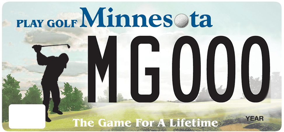 Minnesota Golf License Plate
