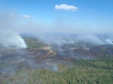 pagami aerial smoke