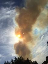Palsburg Fire evening April 15, 2015. Credit: Tyler Fish