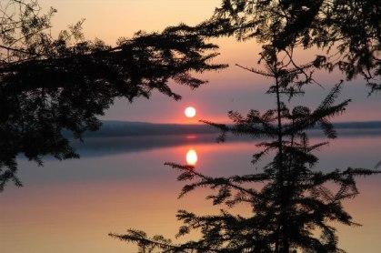 night-fire_Sunset over Gunflint Lake_JPG