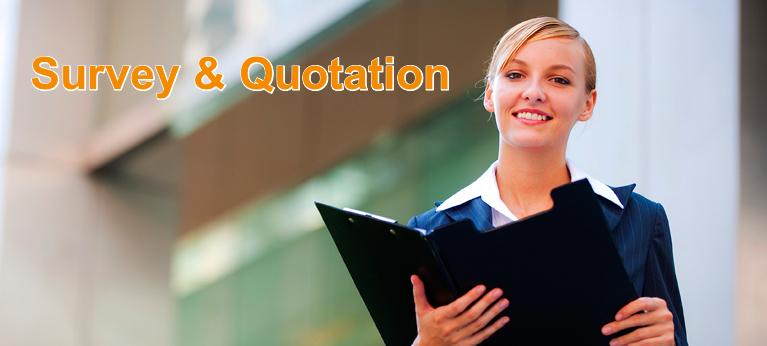 survey & quotation