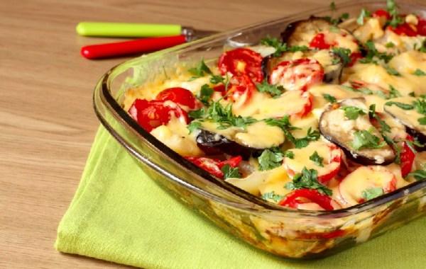 Запеченные баклажаны с помидорами и сыром: Баклажаны с ...