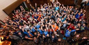 Picture of kids at Mathcounts Event