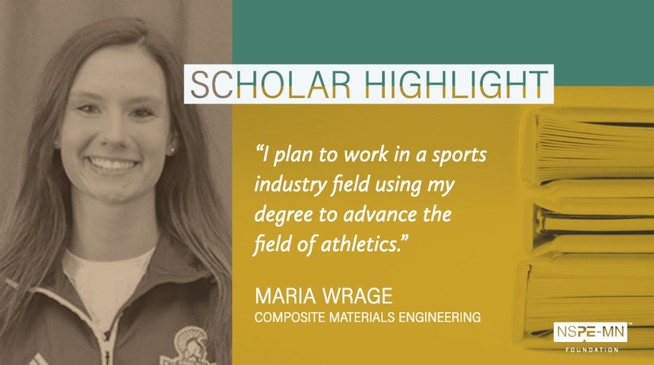 An image highlighting scholarship recipient Maria Wrage