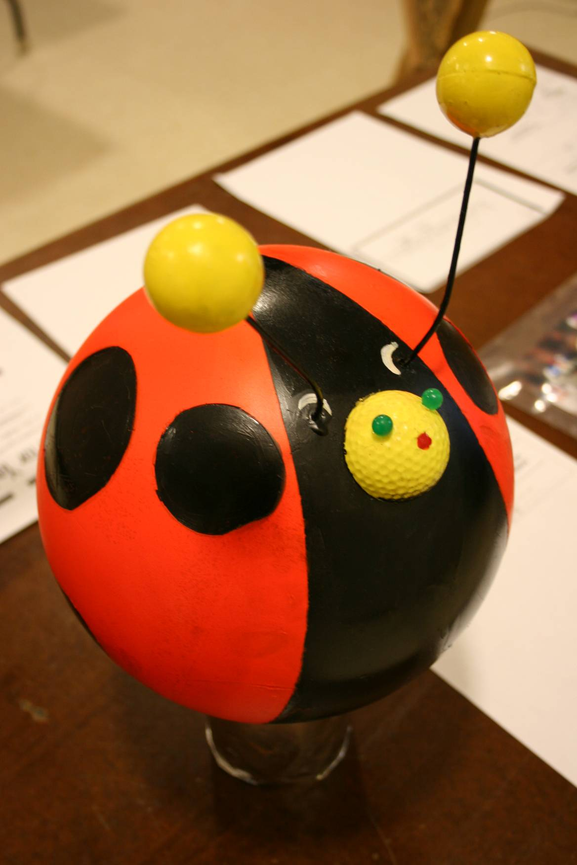 Dave Becher's two lady bugs drew winning bids of $30 and $35.