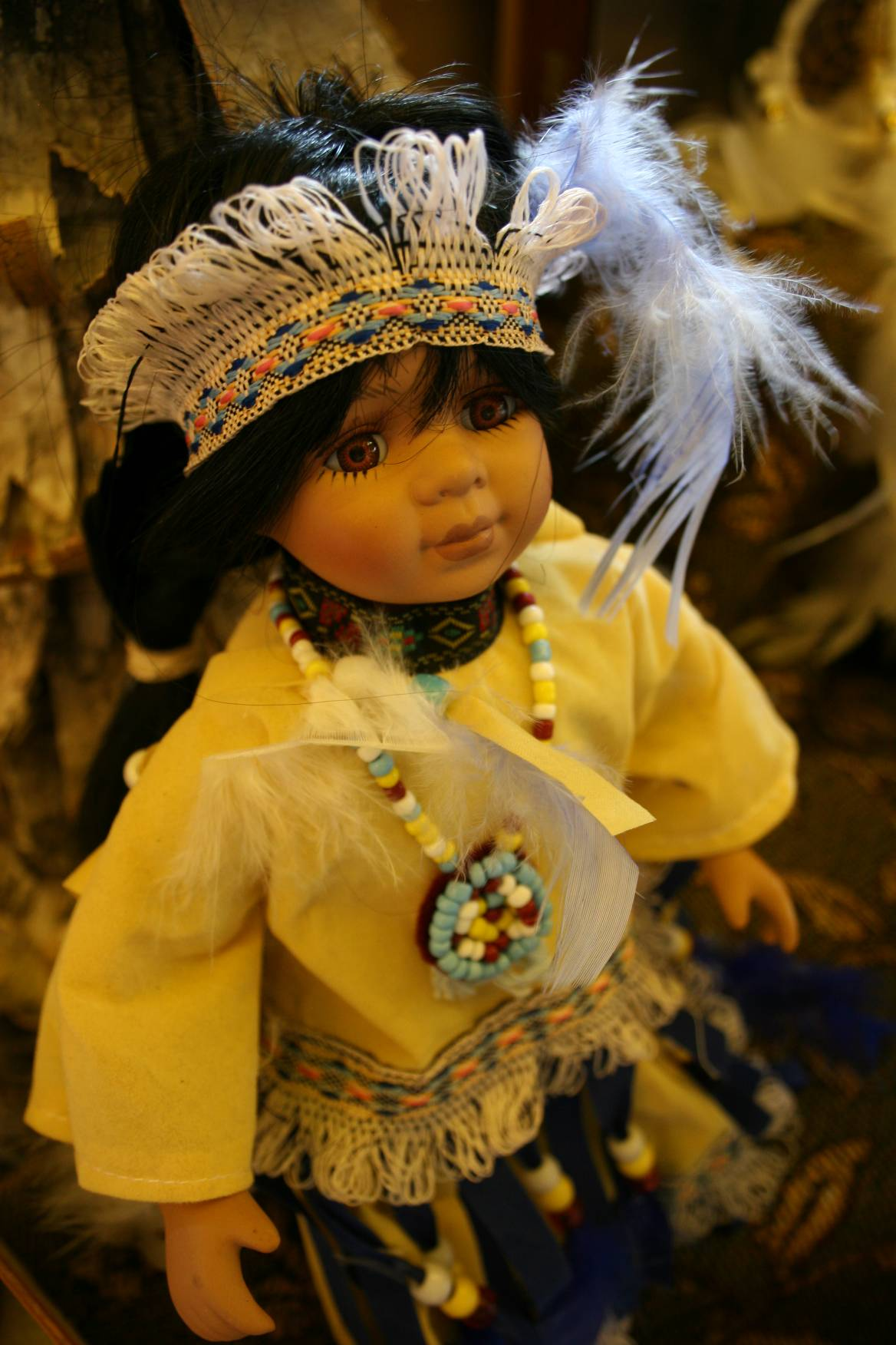 A Native American doll for sale at the Itasca State Park gift shop. Native American crafts, foods and more are featured in the Art Leap tour and can be seen at Strawberry Lake Corner.