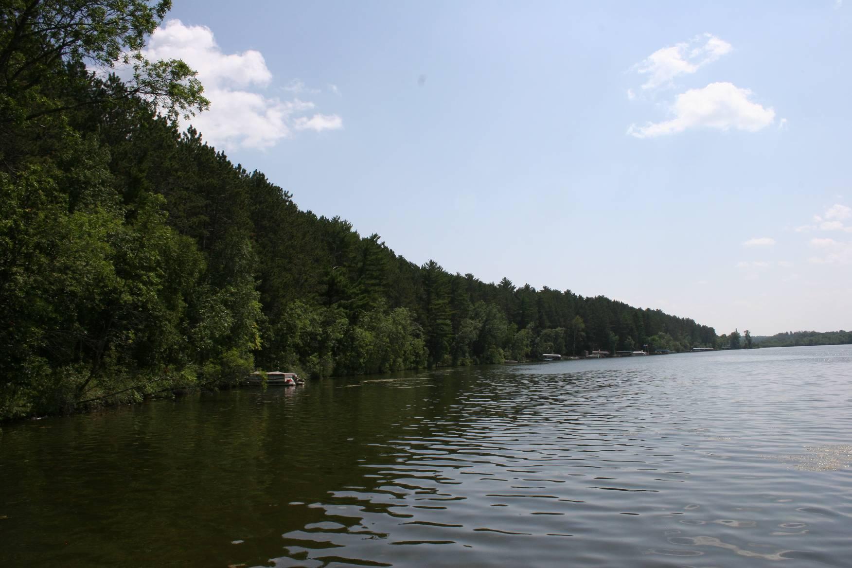 Beautiful Sibley Lake in Pequot Lakes, August 2009.