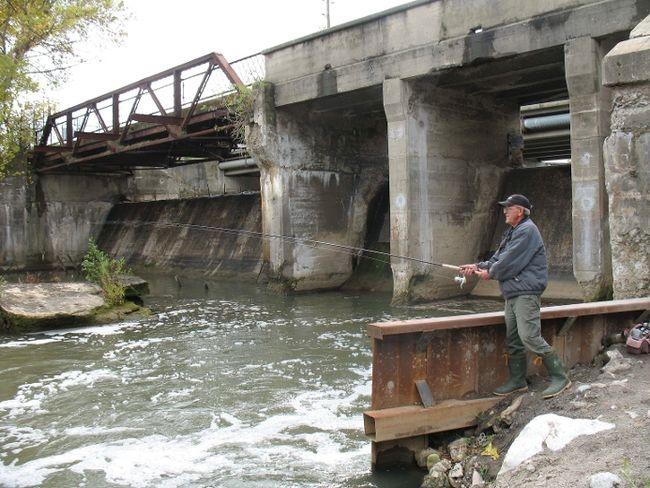 Misner dam in Port Dover.