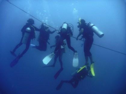Deep dive safety stop. Nitrogen narcosis anyone?
