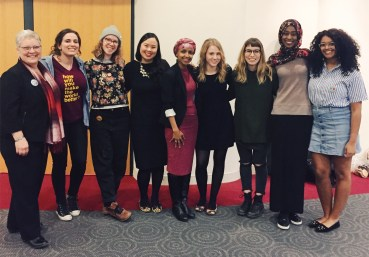 Rep. Omar with Women's Center staff and volunteers
