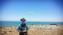 Me and my drone at the Obelisk, Robe, South Australia