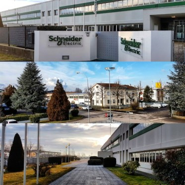 The Schneider Electric office in Pieve di Cento