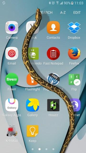 الأن إظهر الثعبان علي شاشة هاتفك وإبهر أصدقائك