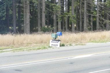 A maize sign