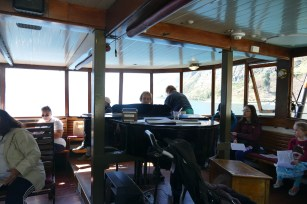 The pianist onboard the TSS Earnshaw
