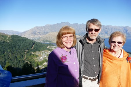 Carol, Garrett, and Garnet at the Queenstown Skyline Restaurant