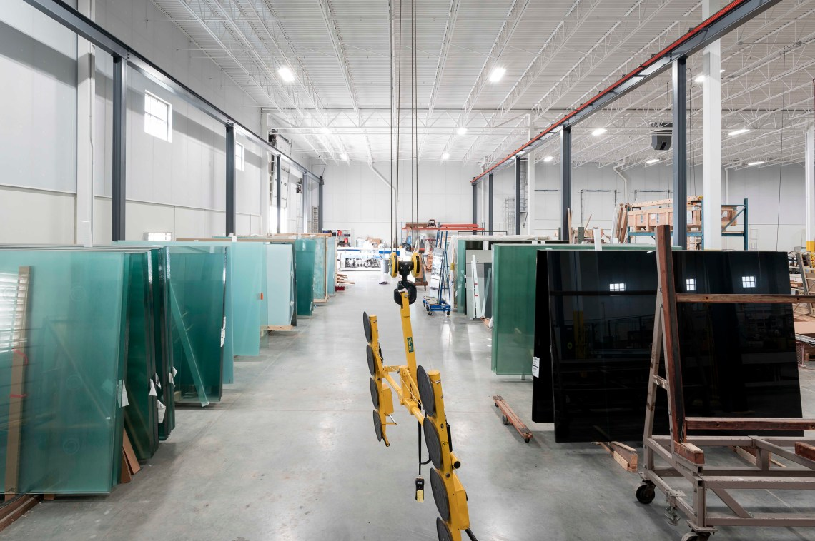 JC Moag Glass Receiving and Storage