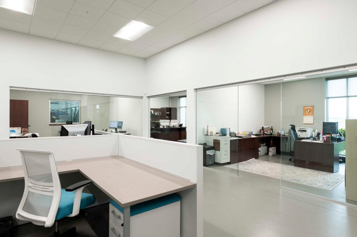 JC Moag Glass Office interior