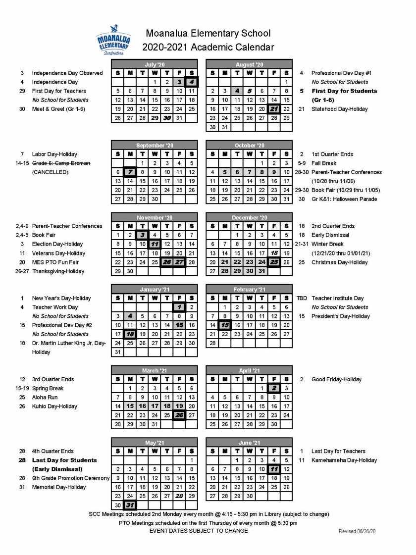 Academic Calendar SY2020-21_FINAL_UPDATED 6-26-20