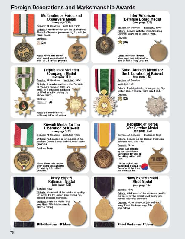 Awards and decorations of the united states for Awards and decoration