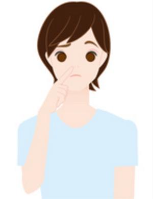 肌荒れに悩む女性