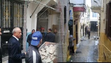 بعد فاجعة انهيار منزل بطنجة..السلطات تفرغ منازل مجاورة 5