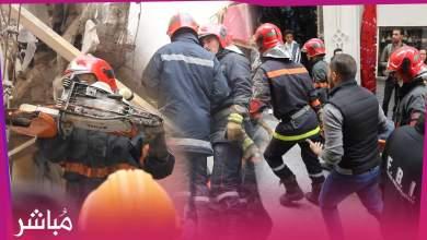 الوقاية المدنية تنتشل جثة الشخص الذي توفي في فاجعة إنهيار منزل بطنجة 1
