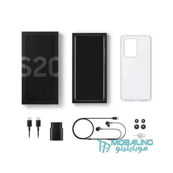 محتويات علبة Samsung Galaxy S20