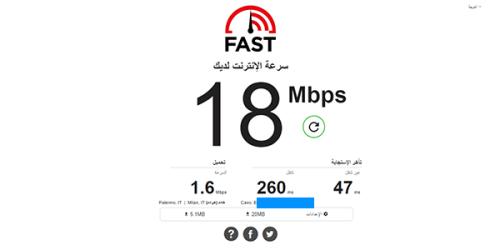 3 مواقع لمعرفة وقياس سرعة الإنترنت