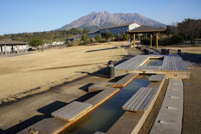 冬の桜島の魅力!足湯でリラックス