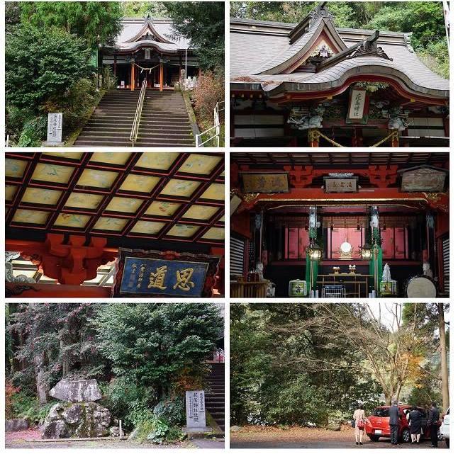 杉並木の奥に佇む、見事な社殿の「花尾神社」  ~数百年前は色とりどりの花が参拝者を迎えてくれていた~