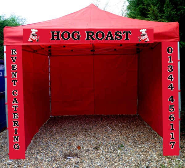 comercial catering event gazebo red