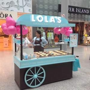 custom cupcake catering cart