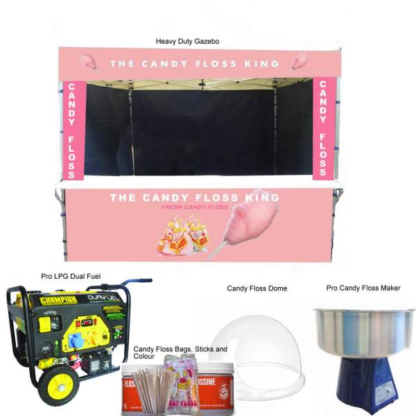 candy floss startup package includes gazebo