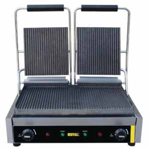 bistro contact grill doulbe ribbed plates catering equipment