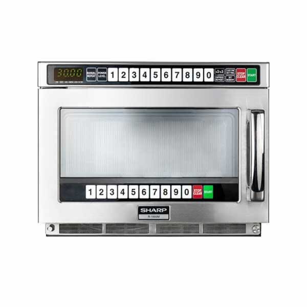 commercial microwave programmable 1500w sharp r22at