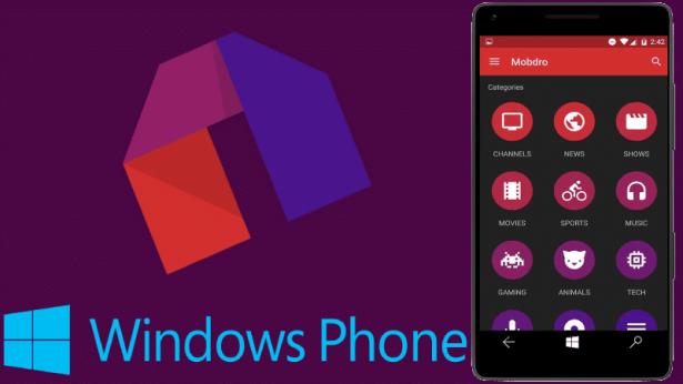 mobdro windows phone app gratis