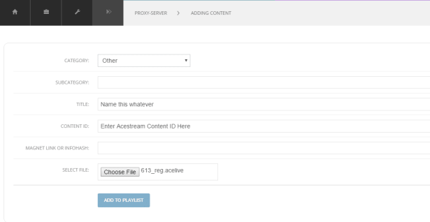 configurar listas acestream chromecast