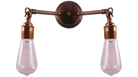 belysning Arrigo double vegglampe fra Mullan Lighting