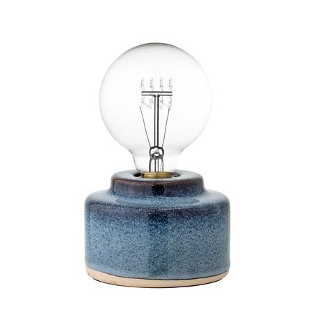 belysning Bordlampe Blå Porselen 12x9cm fra Bloomingville