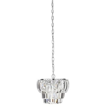 belysning Lucca Krystallkrone Clear/Sølv Ø35 cm. fra Lene Bjerre