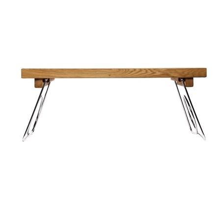 trillebord Oval Oak Sengebrett med sammenleggbare ben fra Sagaform